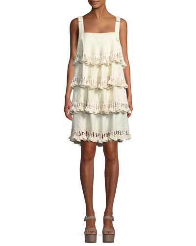 Palma Tiered Tassel Mini Dress