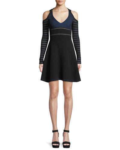 d3c4833eab0 Black Cold Shoulder Dress