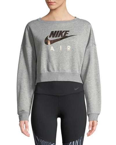 Air Cropped Athletic Sweatshirt