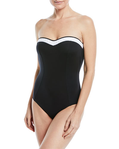 JETS BY JESSIKA ALLEN CLASSIQUE BANDEAU ONE-PIECE SWIMSUIT