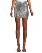 Always This Late Sequin Mini Skirt