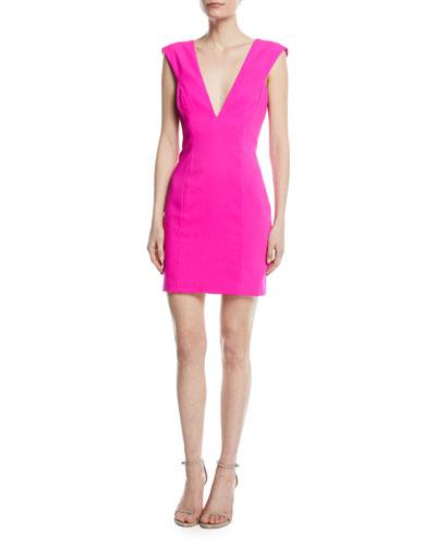 Cutout V-Neck Mini Cocktail Dress
