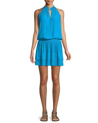 Mackinley Sleeveless Shirred Short Dress
