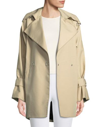 Bonded Poplin Trench Coat