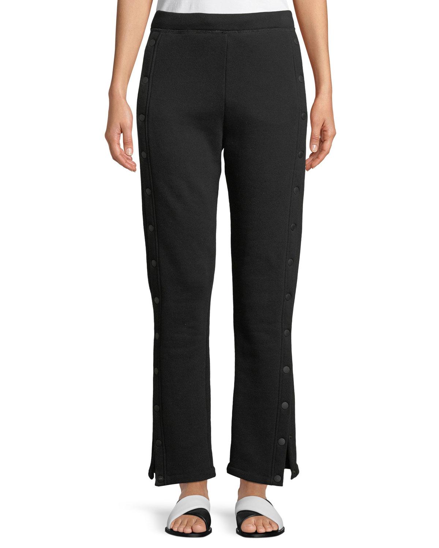 Side-Snap Track Pants