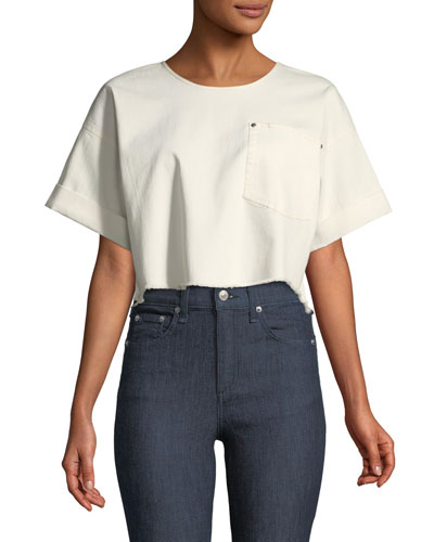 Tinsley Oversized Short-Sleeve Denim Top