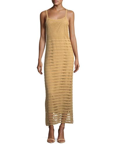 Edna Hand-Crochet Long Sleeveless Dress