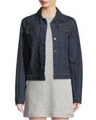 Re-Edition Archive Stripe Button-Front Denim Jacket