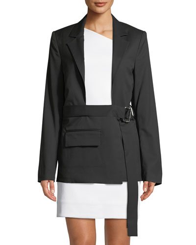 Shayne Oliver Open Chest Wool Blazer