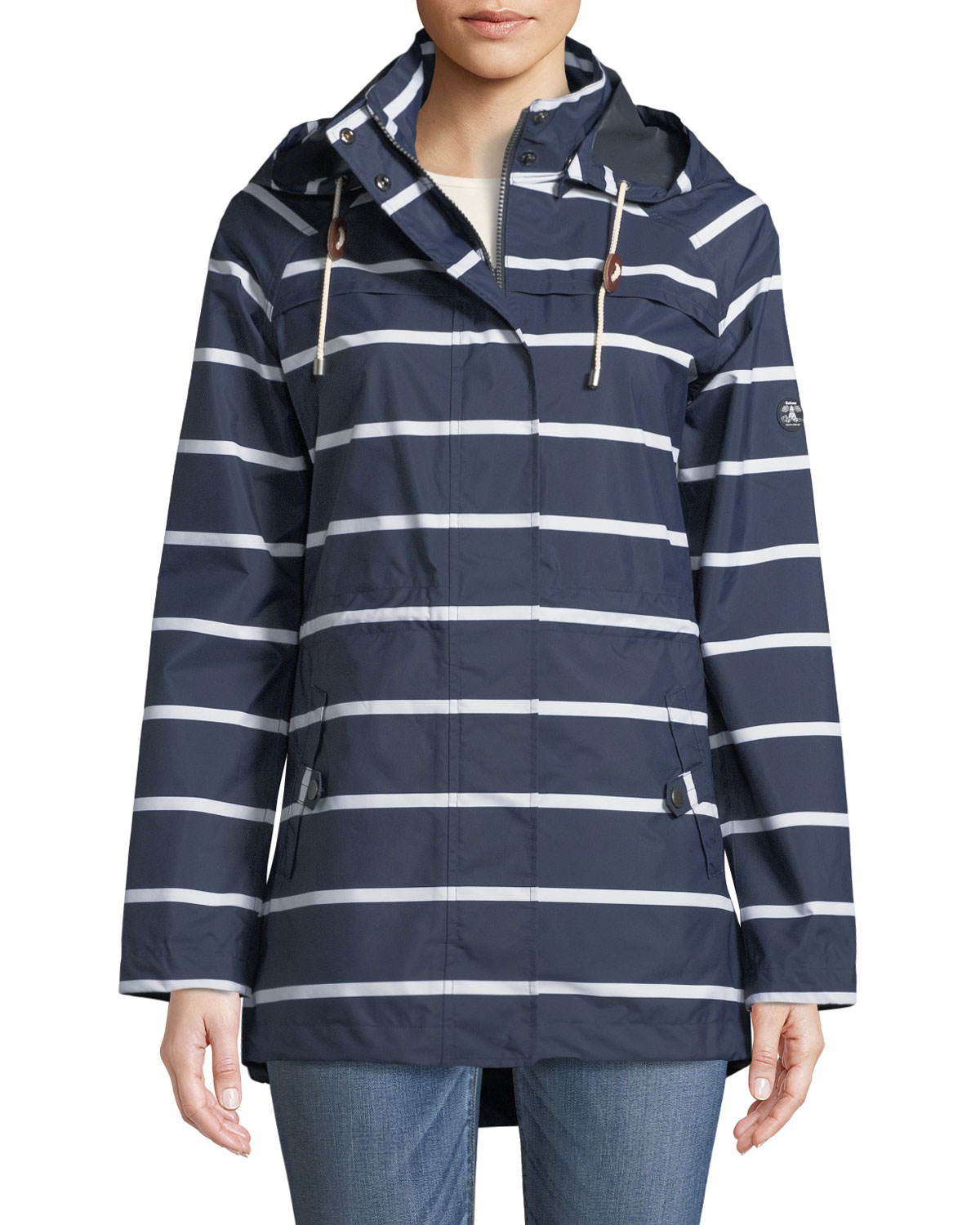 Barbour Hollwell Striped Jacket w/ Hood