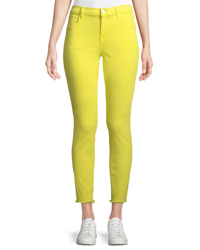 Alana Cropped Skinny Jeans w/ Frayed Hem