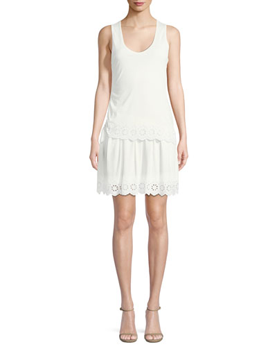 Sleeveless Scoop-Neck Cotton Dress