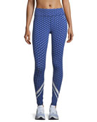 Block-Print Chevron Performance Leggings