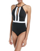 Classique High-Neck One-Piece Swimsuit
