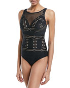 Impressions Lace One-Piece Swimsuit, Available in DD-E Cups