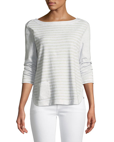 Luxe Cotton Interlock Top with Back-Zip Detail