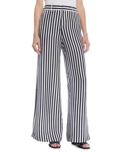 Striped Jacquard Wide-leg Pants - Orange Frame Denim Xm2JPtX5