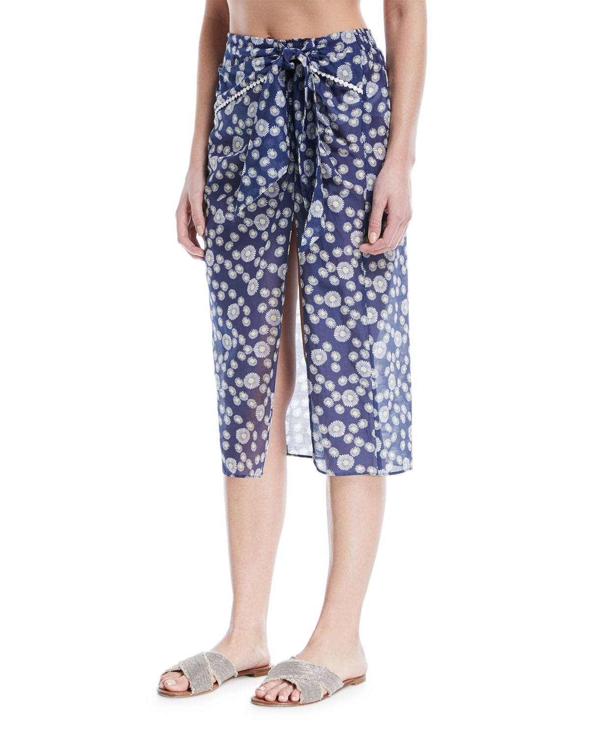 Marin Floral-Print Fixed Sarong Coverup