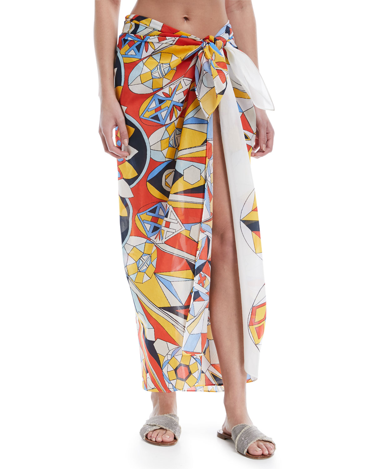 Printed Cotton-Silk Sarong