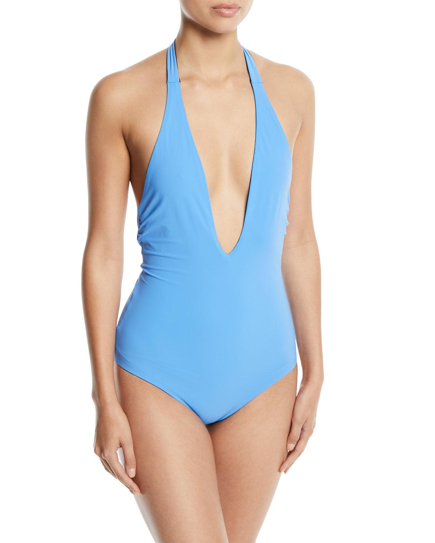 Tory Burch Biarritz Reversible One-Piece Swimsuit