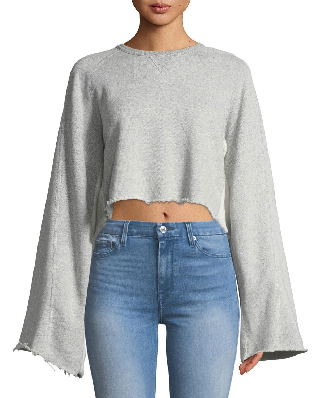 Crewneck Flare-Sleeve Sweatshirt