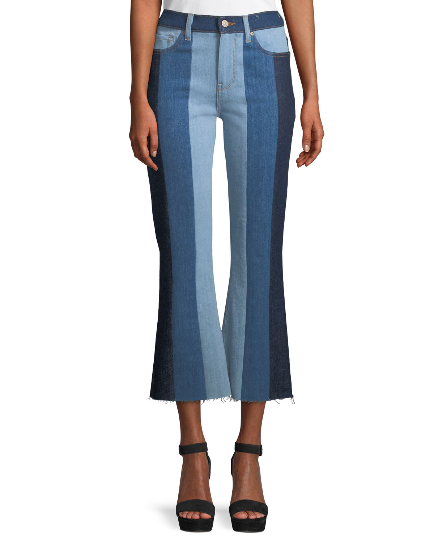Ali Patchwork Crop Flare Jeans