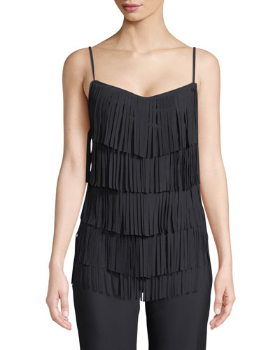 Perny Tiered Fringe Cami Top