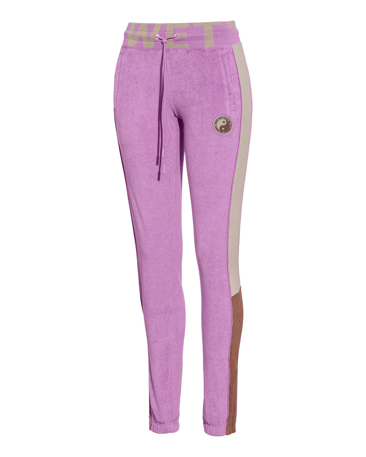 Fitted Drawstring-Waist Track Pants