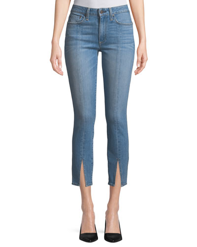 Good Mid-Rise Straight-Leg Ankle Jeans w/ Front Slit