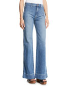 Gorgeous High-Rise Wide-Leg Jeans w/ Rainbow Pockets