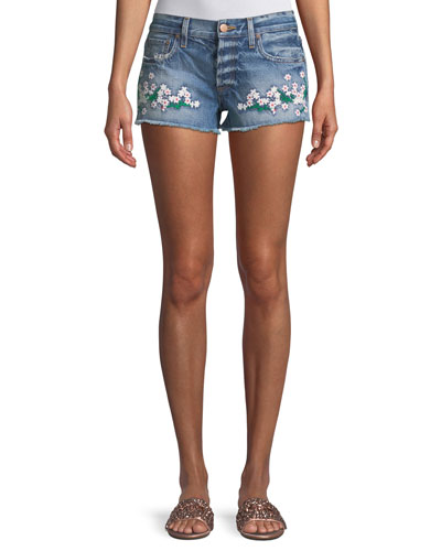 AO.LA AMAZING EMBROIDERED VINTAGE JEAN SHORTS