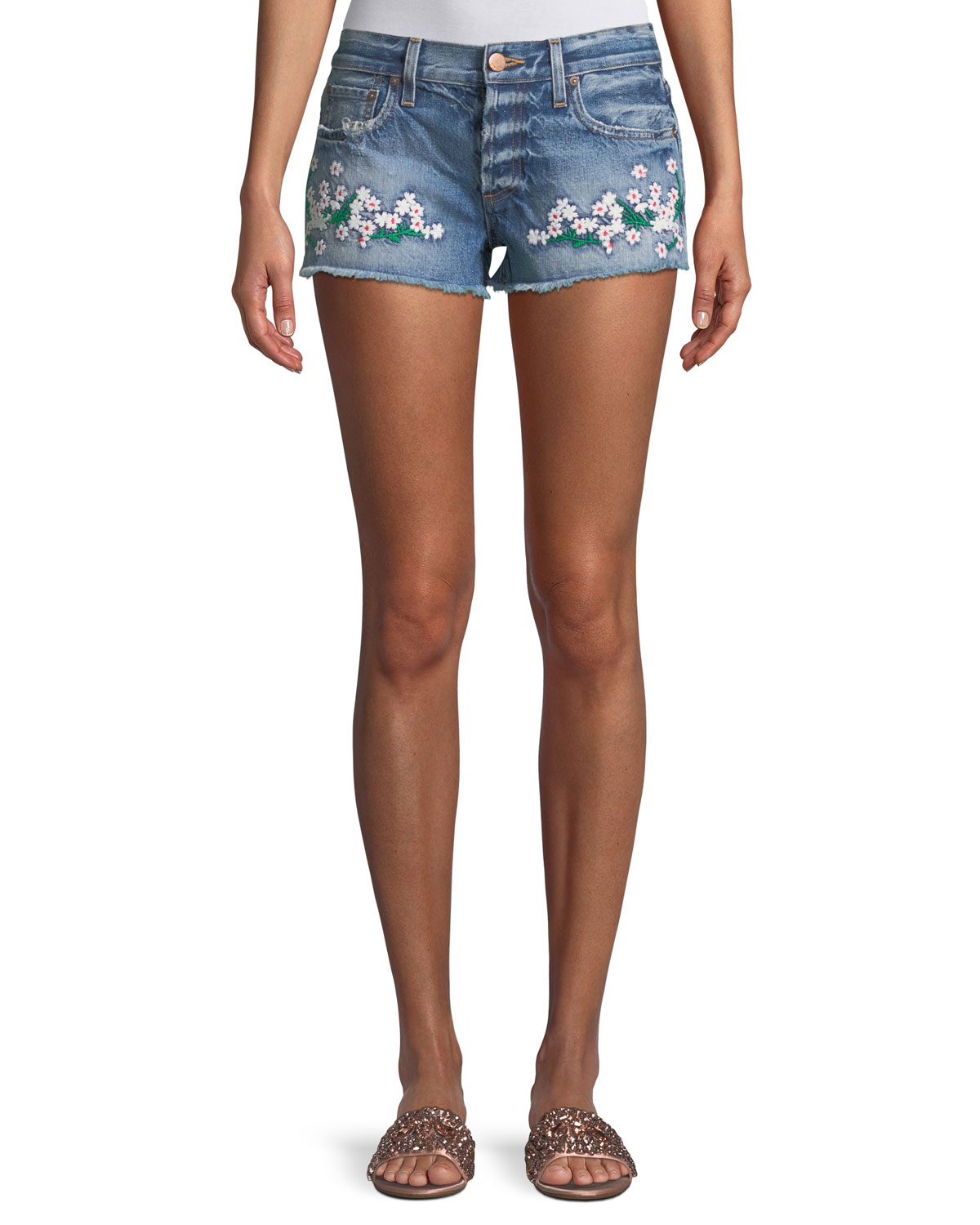 Amazing Embroidered Vintage Jean Shorts