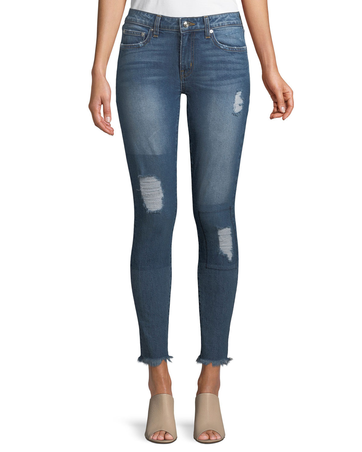 Devi Mid-Rise Authentic Skinny-Leg Jeans