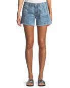 Quinn Long Girlfriend Denim Shorts