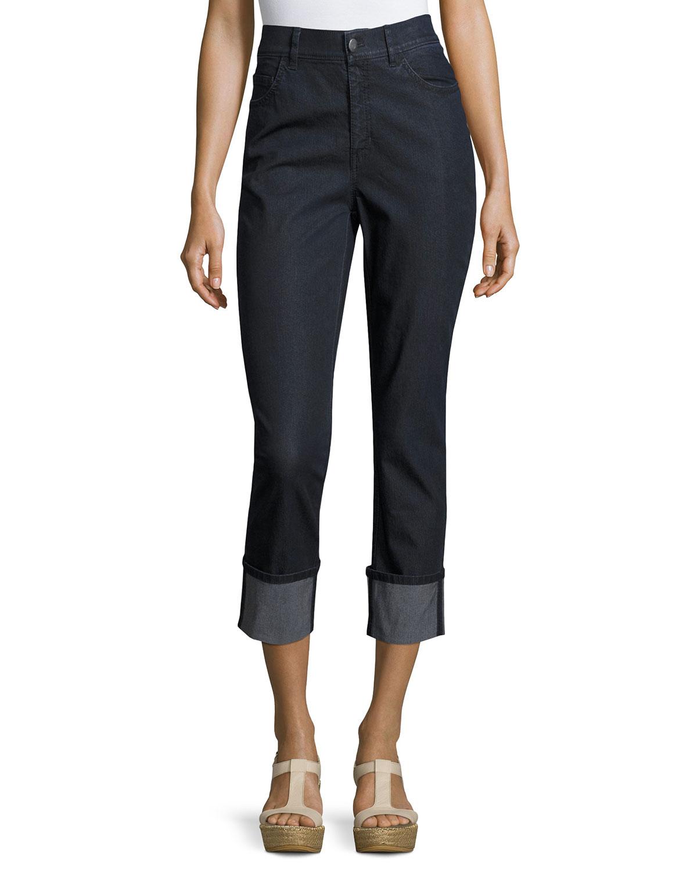 Dahlia Cropped Cuffed Jeans
