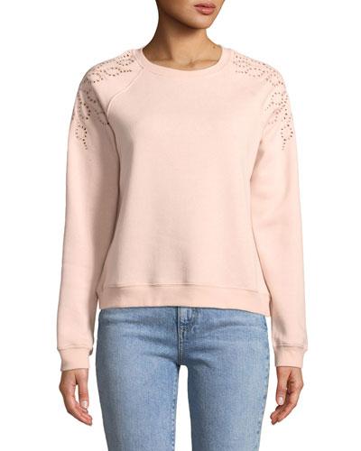 Zoe Embroidered Pullover Sweatshirt