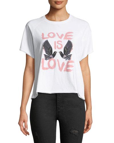 Love Birds Crewneck Short-Sleeve Tee