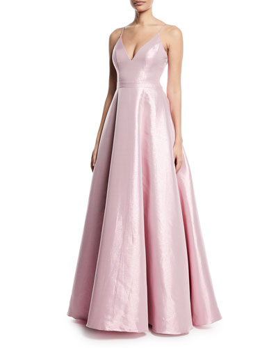 Taffeta Slip Gown w/ Swing Skirt
