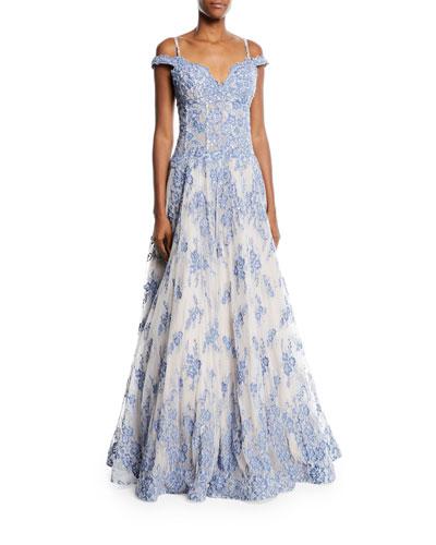 Embellished Sweetheart Corset Gown