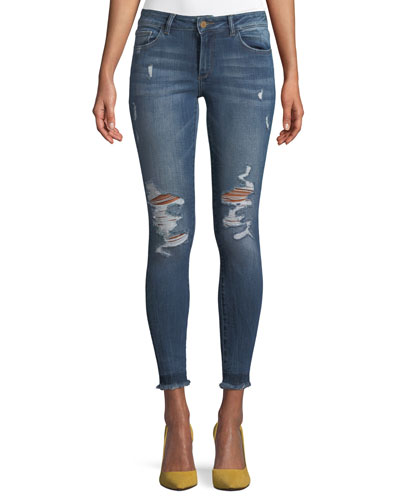 Emma Power Distressed Skinny-Leg Jeans