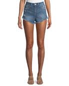 Cleo High-Rise Cutoff Shorts