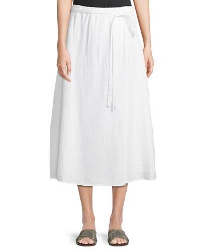 cfa93edee7f Quick Look. Eileen Fisher · Faux-Wrap Linen Midi Skirt