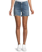 Sinner Denim Shorts w/ Fray