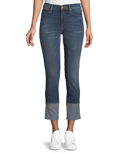Pony Boy Straight-Leg Ankle Fray Jeans