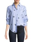 The Derby LOVE Button-Down Shirt w/ Love Print