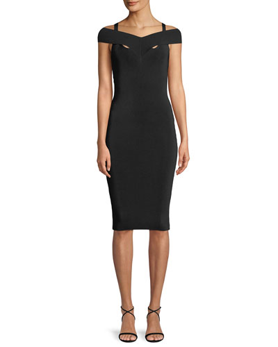Babies Breath Sleeveless Body-con Cocktail Dress