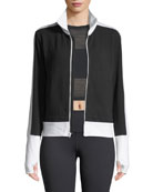 Side-Stripe Turtleneck Jacket