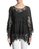 Penelope Flare-Sleeve Top, Plus Size