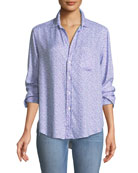 Eileen Long-Sleeve Button-Front Shirt