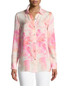 Nailah Floral-Print Silk Blouse